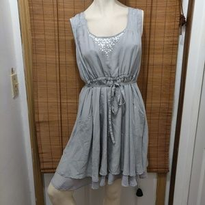 Gorgeous Silver fairy layered dress size Large